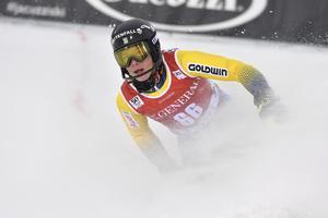 Kristoffer Jakobsen, tolva i sin slalompremiär i alpina världscupen.