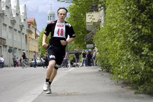 Oskar Olsson sprang in mest av alla. 88 000 kronor gav hans 28 varv.