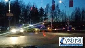 I höjd med Norra Skjutbanegatan på Norrleden blev en kvinna påkörd av en bil på kvällen den 10 mars.