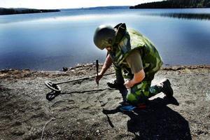 Saneringen av Bynäset på Frösön är inne på sin tredje säsong.  I vår ska militären  djupsanera de hektar som återstår på den norra delen.– Dyk- och ankringsförbudet kommer vi aldrig att kunna ta bort, säger Göran  Johansson.