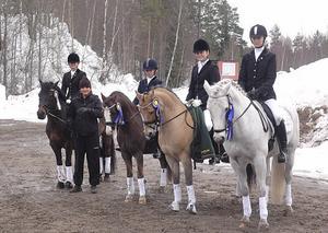 Hudiksvalls ponnyryttare vann första lagomgången i division 1. I laget red Miranda Frestadius/Midnight Dancer, Nathalie Lättman/Ferraris First Edition, Isabelle Hällberg/Ronaldo, och Ida Wallén/Tip Top. Lagledare är Caroline Åkerlund.
