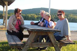 Eva Spängs, Jan Hägglund, Eva Hägglund, Vinston Stavbom och Britt Boman var på Undroms strandfest för första gången.