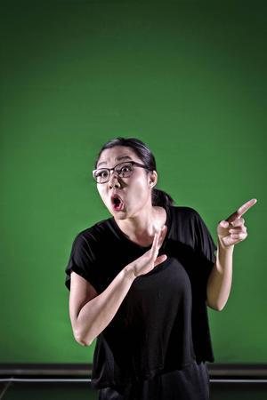 Sarah Remgren talar teckenspråk och på scenen lånade Elise von Weisz ut sin talröst till henne.
