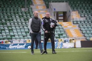 Joel Cedergren och Roger Franzén inför derbyt mot Östersund.