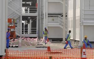 Farligt. Bygget av Guggenheim-museet i Abu Dhabi.