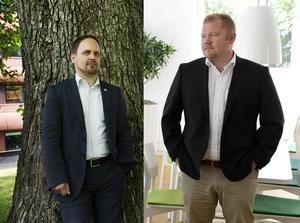 Både Jörgen Berglund (M) och ST:s chefredaktör Anders Ingvarsson ser fram emot den nya tjänsten.