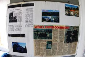Inne i Expeditionen sitter några få gamla tidningsartiklar som skvallrar om att prästgården satt skräck i många generationer.
