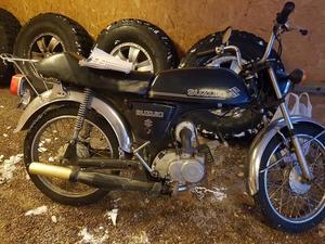 ...och den nya mopeden.