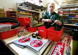 Gott om jobb. Leif Börjesson har gott om arbete och kanske blir det så småningom fler anställda. Foto: Mattias Nääs.