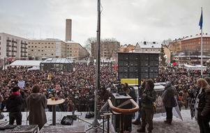 Manifestationen mot sexuellt våld hölls på Medborgarplatsen  i Stockholm. Föreningen Storasyster var huvudarrangör. Enligt polisen var det mellan 3 000 och 6 000 personer på plats.