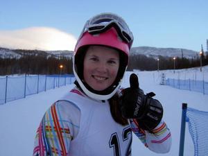 Segraren Emma Happonen var som en solstråle i målområdet. Tacka för det, när finländskan vann hela damtävlingen.