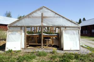 120 kvadratmeter växthus.
