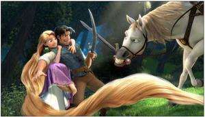 Sagan om den kidnappade prinsessan Rapunzel och Flynn på äventyr i Disneys nya storfilm