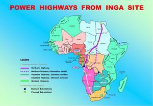 Kraftlänkar från Ingafallen skulle kunna ge hela Afrika el och exportinkomster från Europa