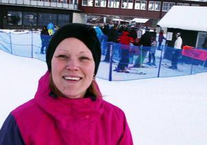 Linda Hindell hade åkt från Ingarö med sonen Simon.