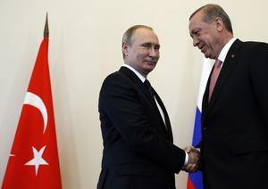 Bromance. Vladimir Putinoch Recep Tayyip Erdogan är nygamla vänner.