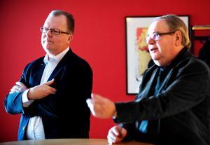 Anders Ahlgren (C), tidigare ordförande, och Leif Nilsson (S), nuvarande ordförande, har båda stångat sina pannor blodiga i regionfrågan. Nu läggs frågan mer eller mindre i malpåse. Men varför inte i stället Dalarna som egen region?