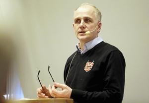 Morgan Persson är VD för Monitor ERP och vice ordförande i Hudiksvalls HC.