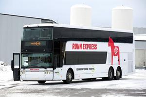 Bussen går normalt i trafik mellan Uppsala och Västerås.