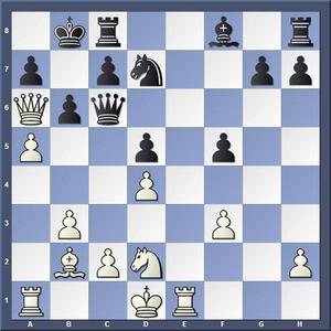 Vad spelade vit?   Lösning: 1.Dxc8+ Kxc8 2.Te8+ Kb7 3.a6 matt.