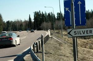 Företagande. Området till höger på bilden, mellan Bispbergskorset och Nisshyttevägen, är aktuellt för planläggning för företagsverksamhet. Foto:RolandBerg