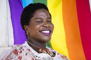 Tatelicious Karigambe är transkvinna från Zimbabwe och föreläser på Sundsvall Pride.