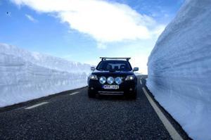 På vissa ställen är snödjupet 4–5 meter.