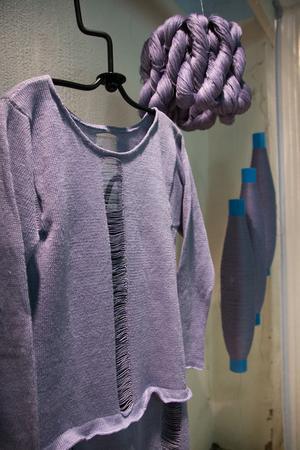 Det var många olika typer av textila inslag på utställningen.