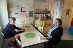 Marianne Almeflo och Sandra Bolander kom till Familjecentrums familjekafékväll för att diskutera under rubriken