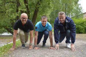 Ulf Rautila, Andreas Svanebo och Lars Nylén är arrangörerna av Stenstansloppet