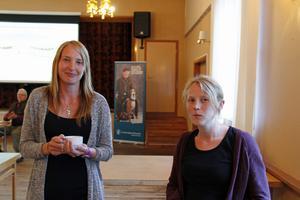 Sara Lindqvist och Elina Eriksson från Länsstyrelsen var på plats för att lyssna på åsikter och diskussionen.