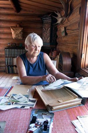 Anna-Stina Osslund kan berätta många minnen.