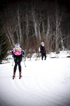 Tuva Toftdahl Staver låg bra till i Edsåsdalen men tappade sedan något och slutade på en 13:e plats.