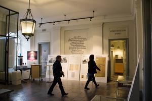 Nere i entréhallen ryms den samlade utställningen om Joe Hill.