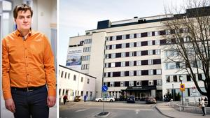 """Debattören skriver att socialdemokraten Elof Hansjons har en """"en förenklad och omodern retorik"""" kring frågan om att upphandla Södertälje sjukhus."""