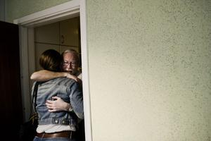 Sofia Larsson räddade livet på Bengt Larsson efter en trafikolycka.