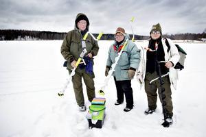 Anne-Lie Norberg, Ann-Britt Landström och Janet Lindberg tycker fiske är livskvalité.