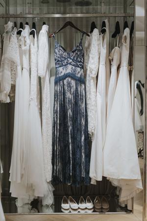 Den färdiga klänningen som hade sin utgångspunkt i skissen.