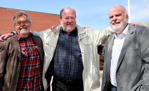 Nils-Gunnar Nilsson, Lars T Johansson och Leif Mattisson - den strävsamma trion som ligger bakom Mittrevyn.