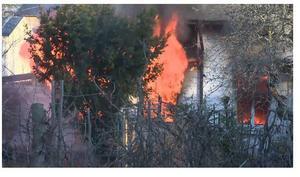 Den 26 november började det brinna i en villa i Ludvika.