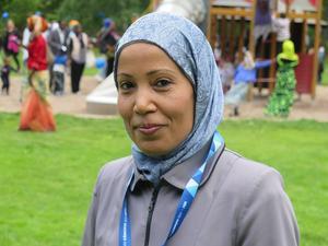 Mahjouba Ourtani från Gävle moské arrangerade firandet.