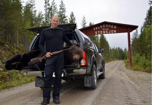 Per Frank hoppas och tror på en ny lyckad björnjakt i området kring jakt- och fiskecampen vid Stensjöarna.