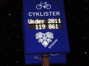 119861 cyklister passerade Badhusparken under 2011. I år ska vi bli flera, menar Petter Björnsson, ansvarig för räkningen.