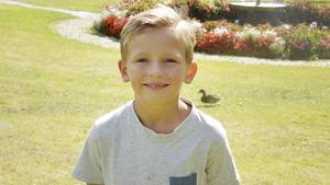 Vincent Haapala Silfver, 8 år, lågstadieelev, Fagersta: En dator skulle jag vilja vinna. Det är alltid bra att ha.