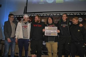 Counterstrikelaget Tacoklubben från Hedemora, som vann CS-tävlingen.