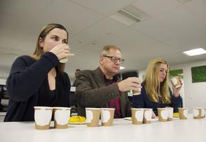 ST:s testpanel Carolina Frankson, Roland Engström och Josefine Karlsson gav både ris och ros när de testade fem julmustvarianter i ett blindtest. Se deras reaktioner i tv-klippet ovan.