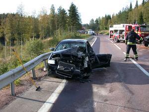 Det rådde totalstopp för övrig trafik på olycksplatsen under den tid som räddningsarbetet pågick.