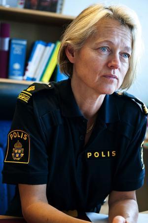 Förundersökningsledare Christina Lundin vid polisen i Falun.