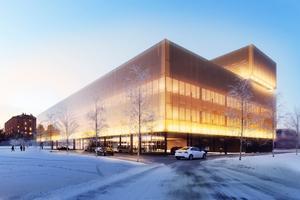 En illustration av Lerstenens planer på Umeåstan.