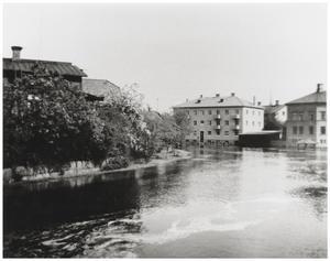Vårfloden 1944. Från Kristinebron och norrut. Ur Bergslagets samling Foto: Sven Berg